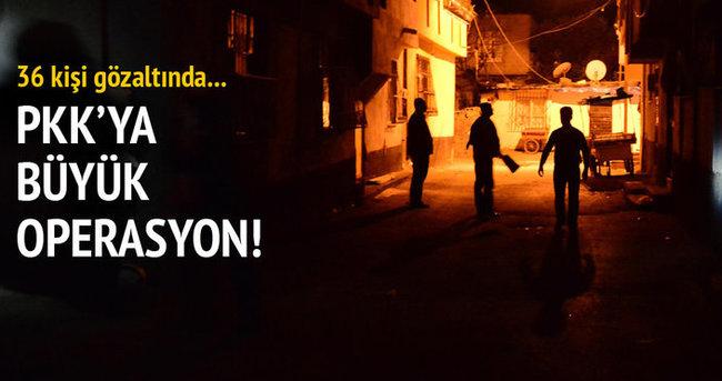 Adana'da terör operasyonu: 36 gözaltı