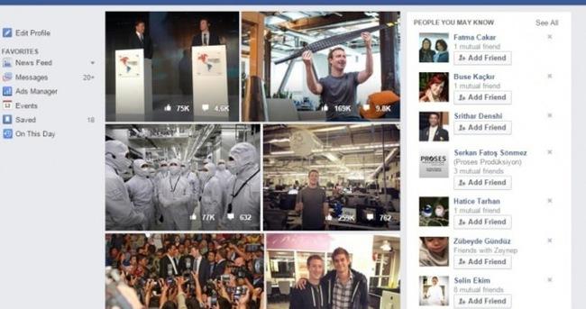 Facebook'ta o fotoğrafları görmek mümkün