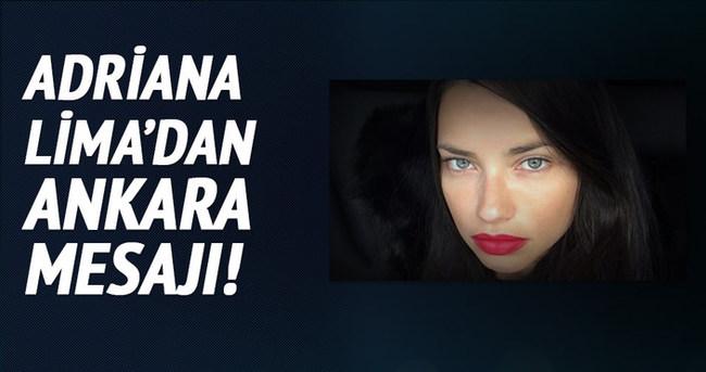 Adriana Lima'dan Ankara mesajı