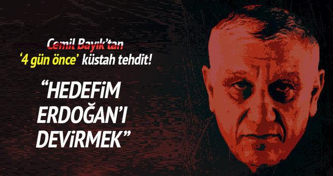 Cemil Bayık hükümeti ve Erdoğan'ı tehdit etti!