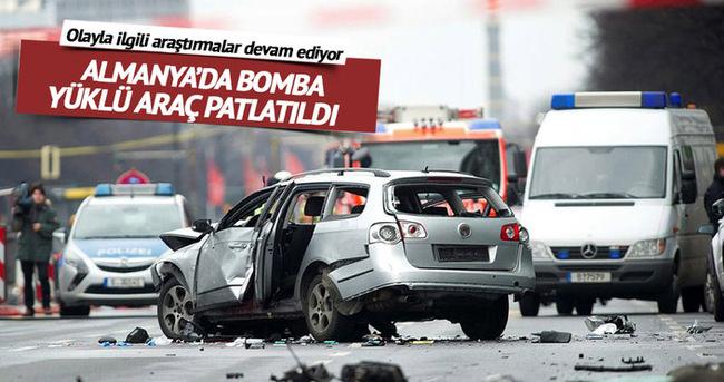 Almanya'da bomba yüklü araç patlatıldı