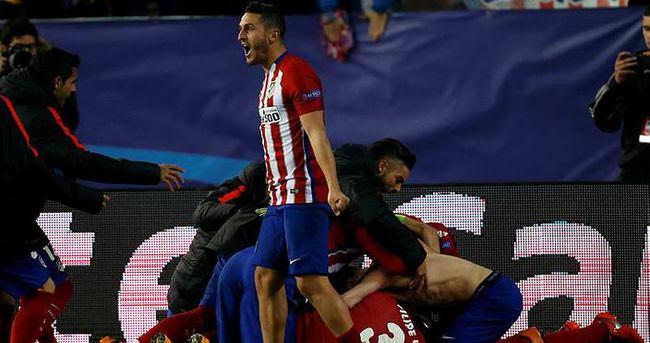 Atletico Madrid penaltılarla çeyrek finalde