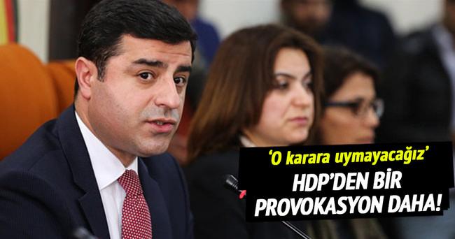 HDP'den bir provokasyon daha!