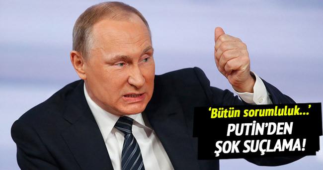 Putin, doping krizinde onları suçladı!