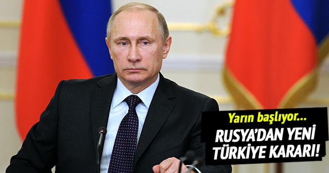 Rusya'dan yeni Türkiye kararı!