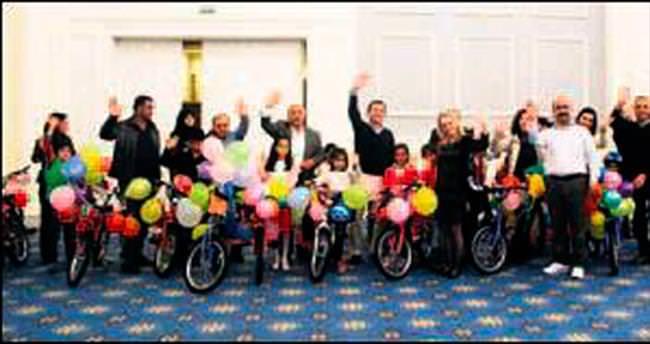 TARSİM çocukları bisikletle sevindirdi