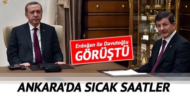 Başbakan Davutoğlu, Cumhurbaşkanı Erdoğan ile görüştü