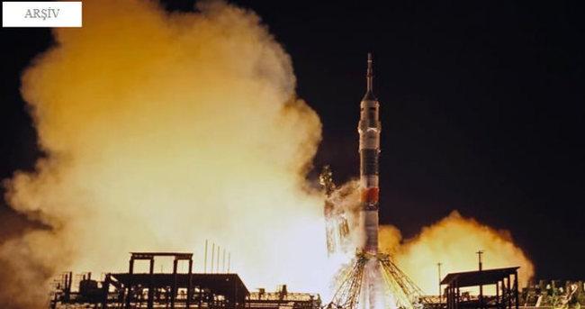 Uzay Aracı Soyuz Baykonur'dan fırlatıldı