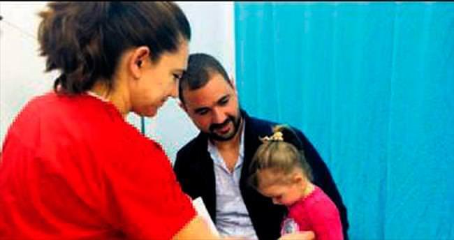 Doktordan korkmayan çocuklara madalya