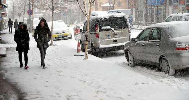 Erzurum ve Ardahan'da kar yağışı!