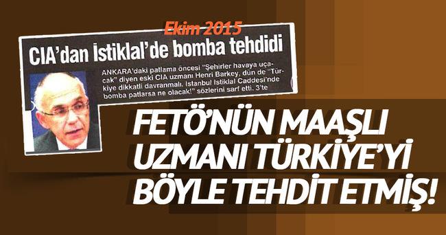 Fetö'nün maaşlı uzmanı Türkiye'yi böyle tehdit etmiş!