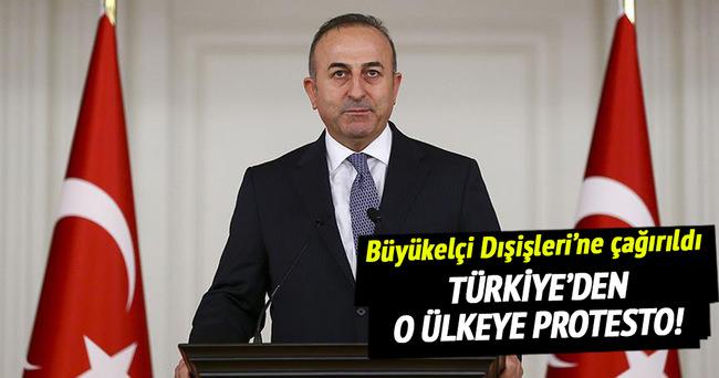 Türkiye'den Belçika'ya protesto!