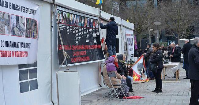 PKK çadırı polis korumasında!