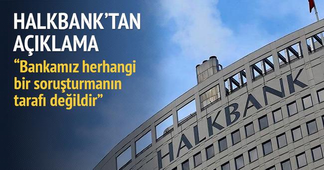 Halkbank'tan soruşturma açıklaması