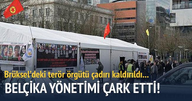 Brüksel'deki terör örgütü çadırı kaldırıldı