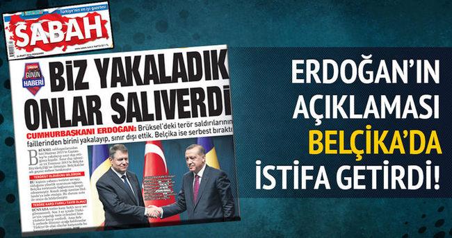 Erdoğan'ın açıklaması Belçika'da istifa getirdi