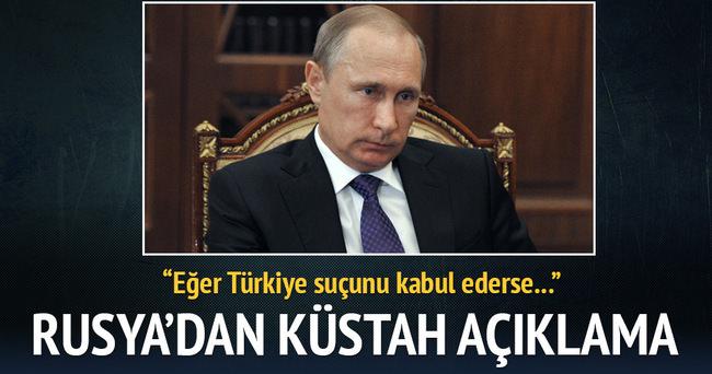 Rusya'dan küstah 'Türkiye' açıklaması