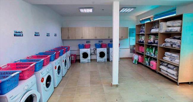 Yenimahalle'de çamaşır yıkama derdine son