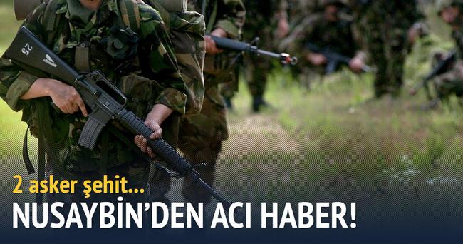 Nusaybin'den acı haber: 2 asker şehit
