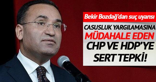 Yargılamaya müdahale eden CHP ve HDP'ye sert tepki