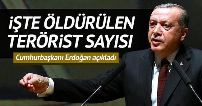 Erdoğan: 5 bin 359 terörist öldürüldü