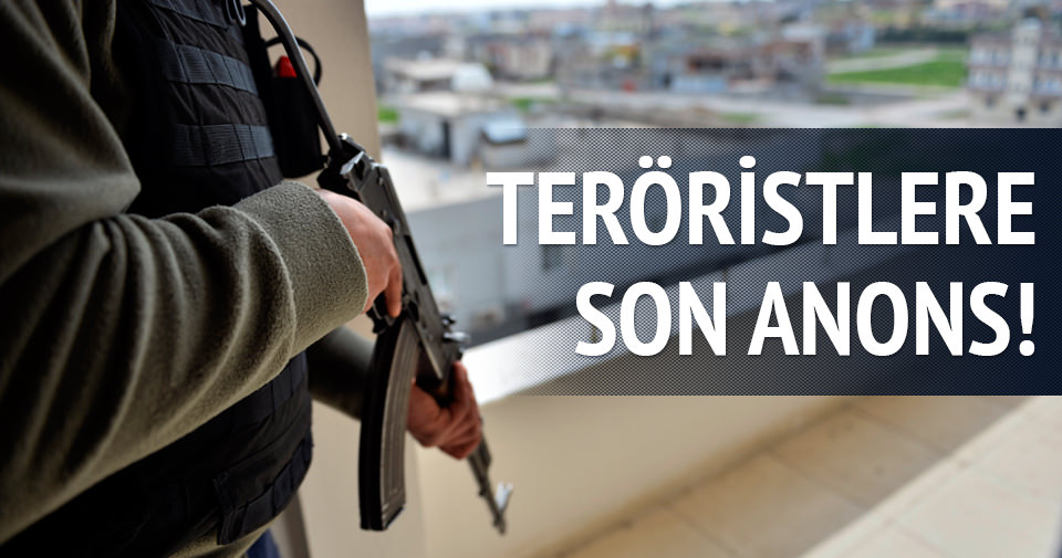 Nusaybin'de vatandaşlar ve teröristler için anons