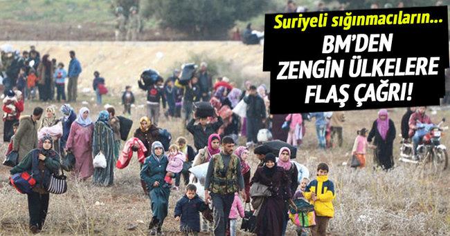 BM'den zengin ülkelere sığınmacı çağrısı!
