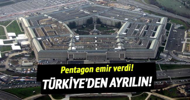 ABD askerlerinin yakınlarına Türkiye'den ayrılmaları emri verildi