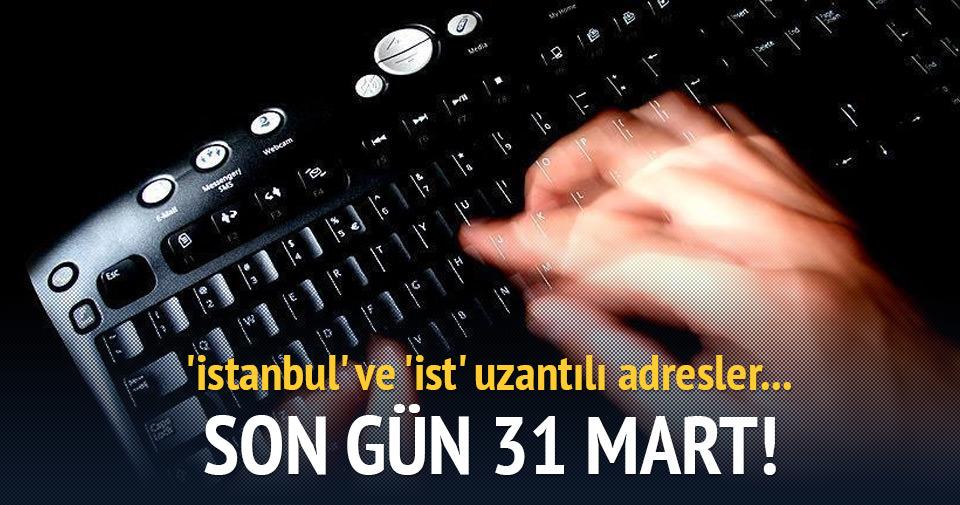 'istanbul' ve 'ist' uzantılı adresler kullanılmaya başlanacak