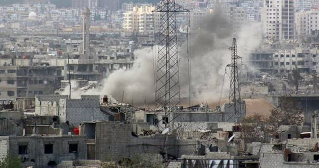 Katil Esad güçleri okul ve hastaneyi vurdu