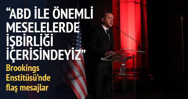 Erdoğan: ABD ile önemli meselelerde işbirliği içerisindeyiz