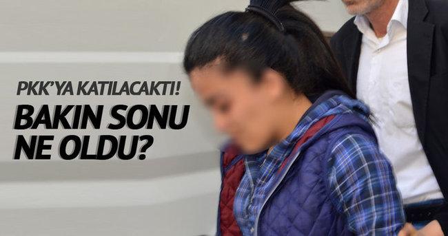 PKK'ya katılmak isteyen genç kız tutuklandı!