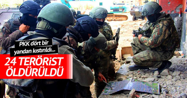 TSK: 24 terörist öldürüldü!