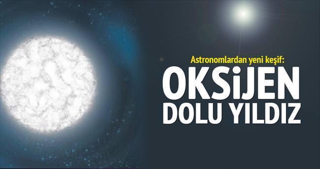 Atmosferi oksijen dolu yıldız bulundu
