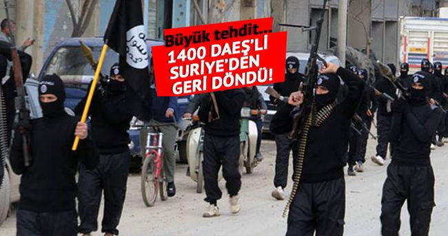 ''1400 DAEŞ'çi Avrupa'yı tehdit ediyor''