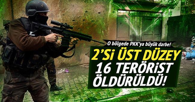 Yüksekova'da 16 PKK'lı etkisiz hale getirildi!