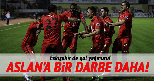 Gol düellosunda kazanan Eskişehir