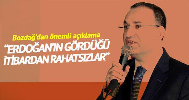 'Erdoğan itibar görüyor diye rahatsız oluyorlar'