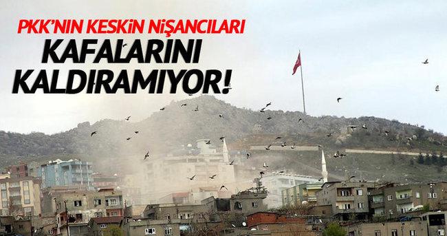 PKK'nın keskin nişancıları kafalarını kaldıramıyor!