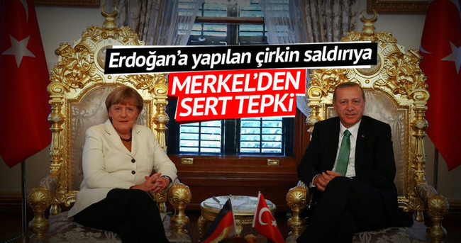 Ağır hakareti Merkel de kabullenemedi
