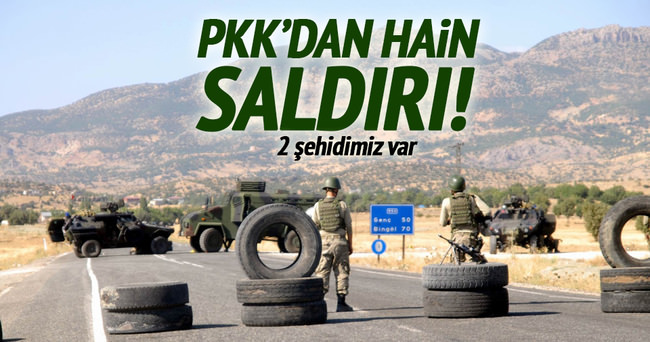 PKK'dan hain saldırı: 2 şehit