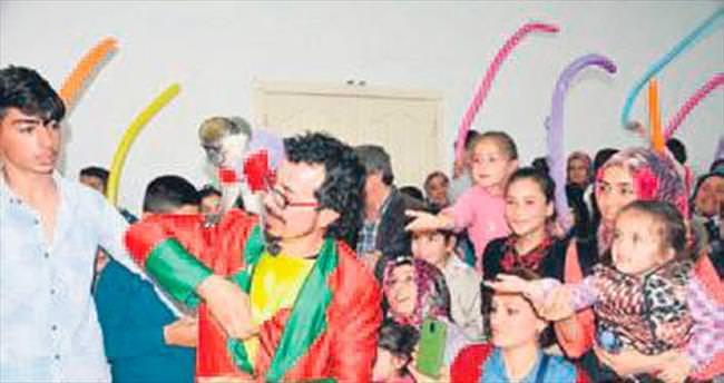 Haymanalı çocuklar doyasıya eğlendi