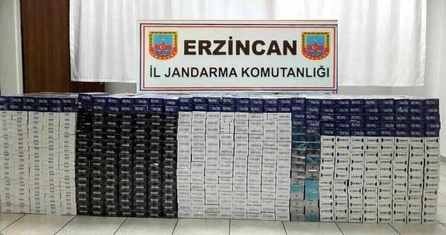 Jandarma 11 bin paket kaçak sigara yakaladı