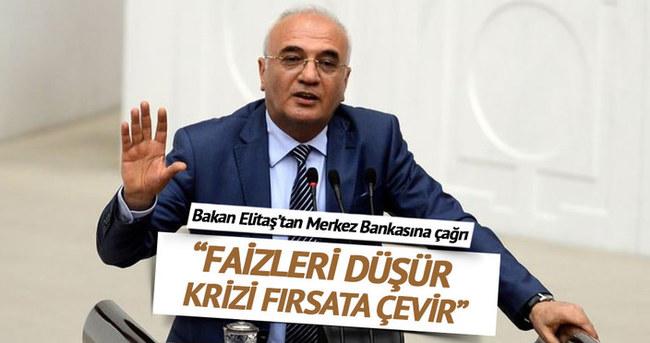Ekonomi Bakanı Elitaş'tan Merkez Bankası'na faiz çağrısı