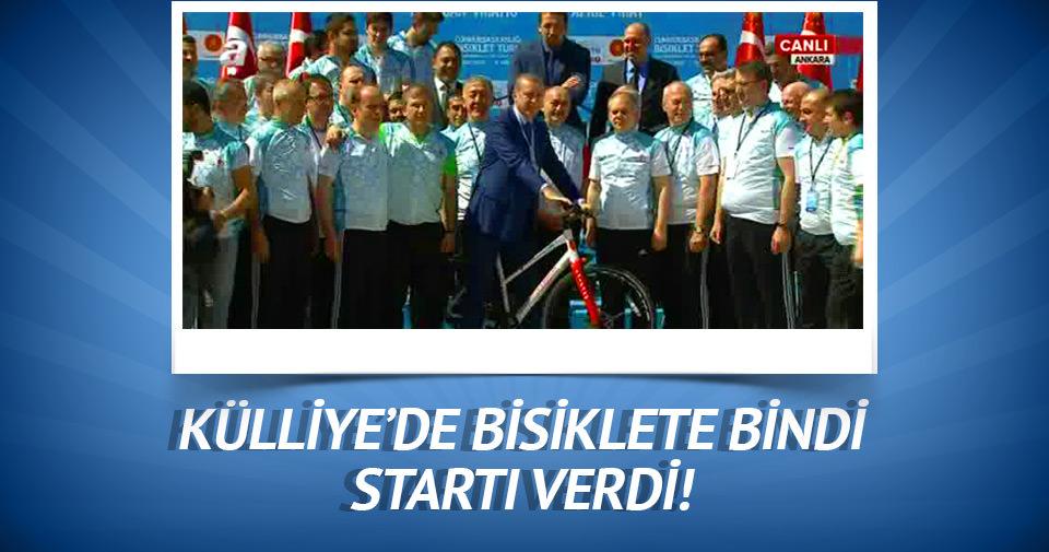 Cumhurbaşkanı Erdoğan startı verdi
