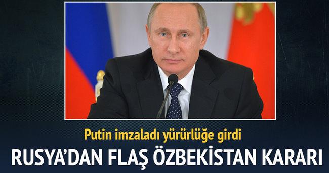 Rusya, Özbekistan'ın 865 milyon dolarlık borcunu sildi