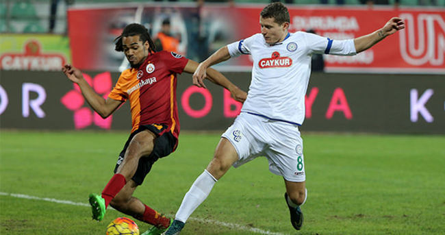 Galatasaray ile Çaykur Rizespor 32. randevuda