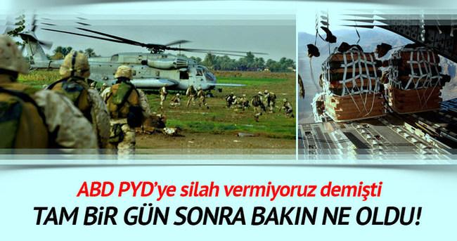 Amerika'dan PYD'ye helikopterlerle askeri yardım