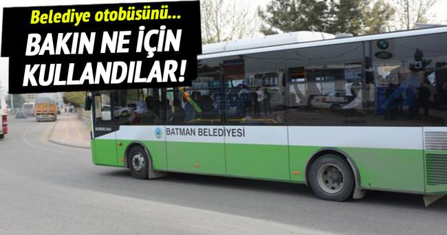 Terörist cenazeleri belediye otobüsünde!