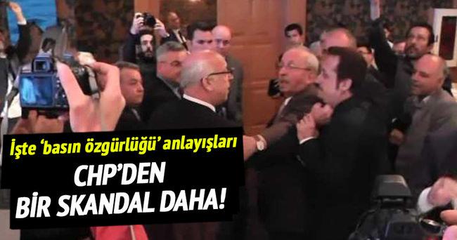 CHP'li başkan gazeteciye saldırdı!